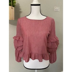 AMERICAN EAGLE Tiered Balloon Sleeve Sweater Top!